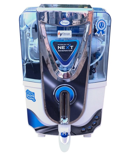 Drizzel RO UV UF Electric Water Purifier,Chrom
